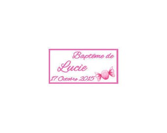 Christening/birth candy sweets tags