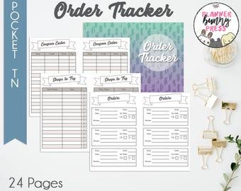PRINTABLE Order Tracker Insert POCKET TN   Online Shopping   Coupon Code List