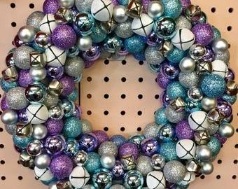 Frozen-esque Ornament Wreath