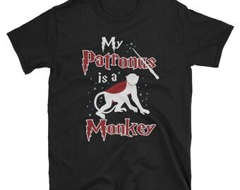 Monkey Shirt, Monkey Gift My Patronus Is Funny Tee