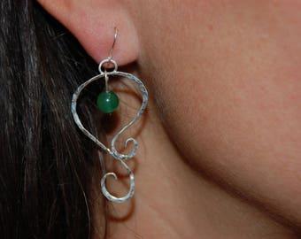 Sterling Silver with carnelian bead earrings