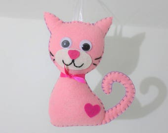 "Suspension ""Cat"" Kitty pink"