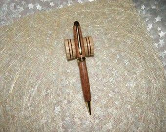 Elodie ballpoint pen turned by hand in Purpleheart wood