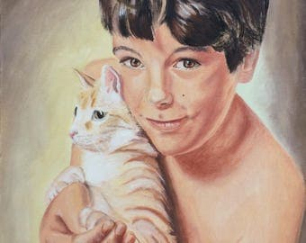 Custom Oil Portrait Custom Portrait Oil Portrait Painting From Photo