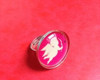 Cupid 25 mm cabochon Adjustable ring