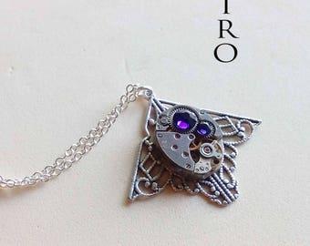 Mackintosh art deco steampunk purple necklace - steampunk jewelry - Necklace by steamretro-steampunk - steampunk necklace
