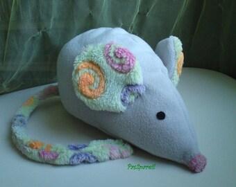 Stuffed grey mouse plush