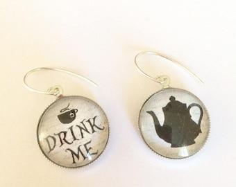 """Earrings theme """"Alice"""" in Silver 925"""