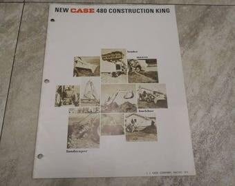 Case 480 Construction King Literature