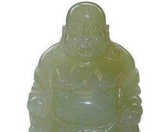 Statuette Chinese laughing Buddha jade new 5cm