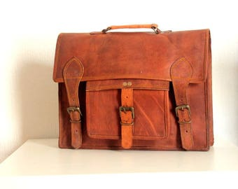 bag leather Briefcase laptop bag, leather, leather satchel shoulder bag