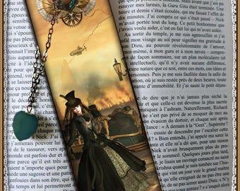 "Bookmarks laminated ""Mechanics of the heart"", steampunk, cheap gift idea"