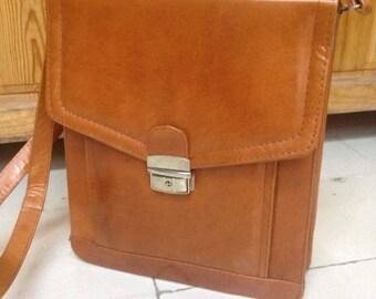 Messenger Shoulder Strap Bag, purse, brown or bronze