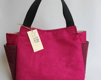 bag fabric raspberry pink tulip bag