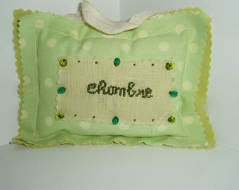 Small door knob pillow Pearl Green