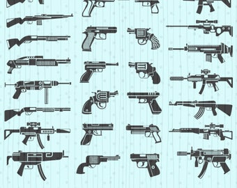 Gun svg, Gun svg Cut, Gun svg Silhouette, Guns Vector, Guns Clipart, Gun Download File, eps dxf pdf png svg