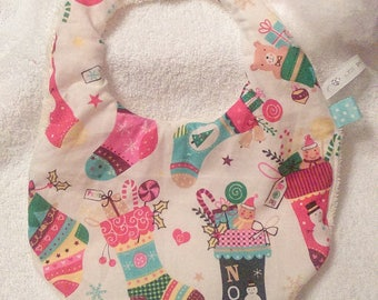 0/6 month baby bib Christmas