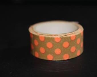 roll of masking tape 3 meter orange dots