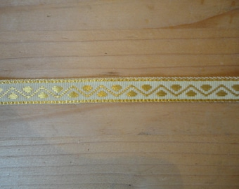 beautiful gold and white, woven Ribbon width 1 cm