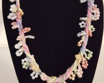 Sweet Pastel Beaded Necklace