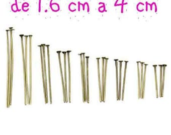 set of 900 bronze nails of 1.6 cm to 4 cm