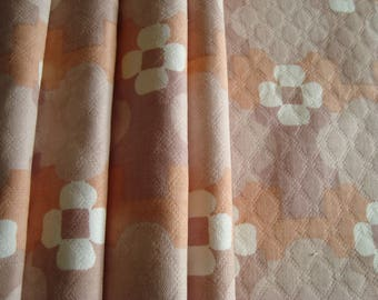 Coupon upholstery cotton geometric print fabric