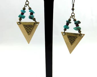 Ethnic earrings ear graphic Kezatan