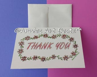 Hand drawn cards/Thank You cards
