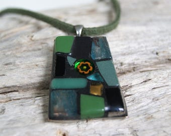"Trapeze ""Montmorency"" mosaic necklace"