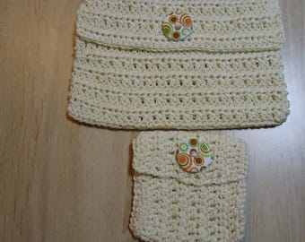 set of two matched unbleached bags