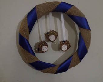 Simple Baseball Wreath