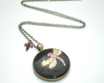 Flying Dragonfly Locket necklace and charms