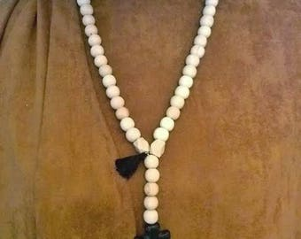 NECKLACE & wooden beads NECKLACE