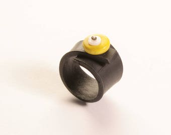 Ring made with recycled tractor inner
