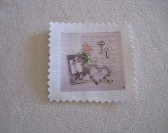 Image transfer, to sew, vintage, retro, Scriptures, key, little girls