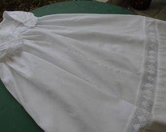 Antique French, baptism dress vintage, antique christening gown, vintage French baptism, made entirely by hand.