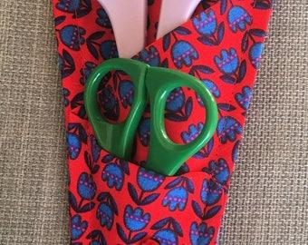 Gift card holder for scissors case