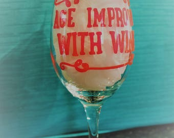 Age improves with wine glass
