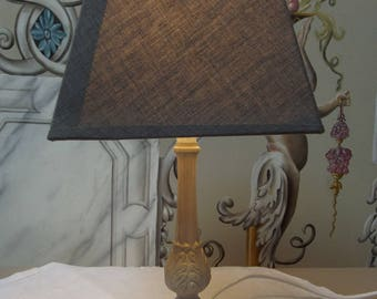 BRONZE PATINA BEDSIDE LAMP