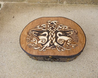 Available: Mini box chest studded with Celtic stamp