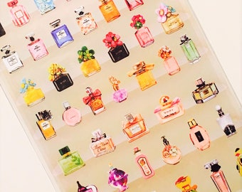 Sticker sticker perfume, perfume, perfume bottle, Scapbooking stationery accessories school arch