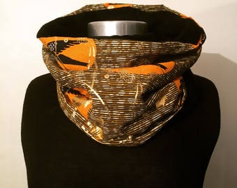"Choker ""snood"" gold wax fabrics"
