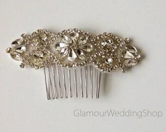 Wedding Hair Comb Rhinestone with Silver Wedding Hair Comb Hair Comb Bridesmaid's Hair Comb Flower Girl Hair Headband Comb