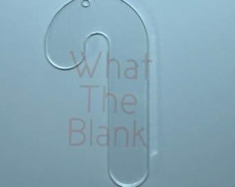 "Candy Cane Christmas Ornament Acrylic Blank, 3.5"""