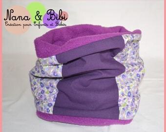 ADULT SNOOD - Choker purple/green and purple Liberty