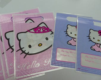 8 bags of holiday HELLO KITTY bags candy bags, candy bags for gifts for birthdays party guests