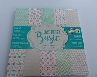 paper pad of 30 sheets easy, breezy basic basic 15 cm square