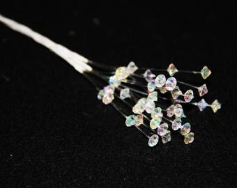 Bouquet of 5 stems of beads on nylon thread