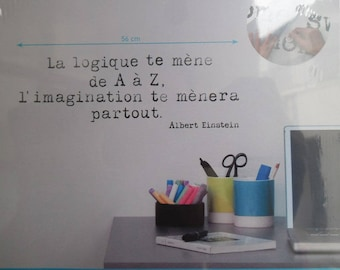 Transfer wall logic takes you from A to Z imagination anywhere Albert Einstein (for the)