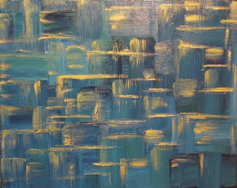"""Modern Abstract Painting """" The Maze"""" 16x20x1"""